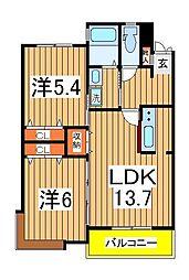 スぺリオK−2[202号室]の間取り