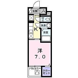 シェモワ八尾[2階]の間取り