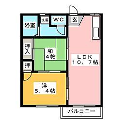パインヒルズA棟[2階]の間取り
