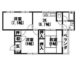 長関邸[3F号室]の間取り