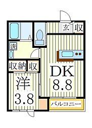 サンステージ[3階]の間取り