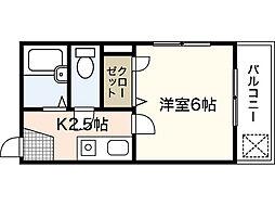 メルカード弐番館[3階]の間取り