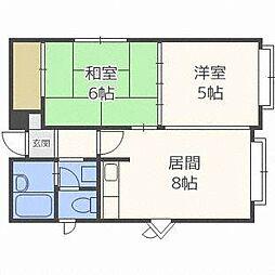 ダイユウハイツ24B[1階]の間取り