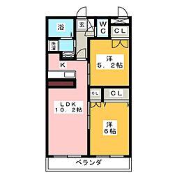 クリア六句町[2階]の間取り