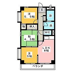 サンシャインミナミII[6階]の間取り