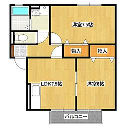 ハイツ本郷[1階]の間取り