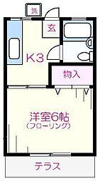 ひばり荘[202号室]の間取り