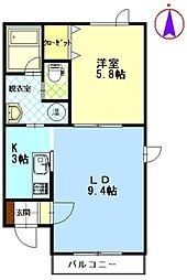 北海道帯広市西二十一条南5丁目の賃貸アパートの間取り