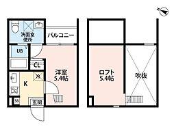 drei(ドライ)[103号室]の間取り