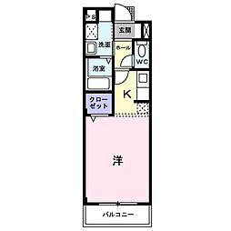 パーク・サイド[202号室]の間取り