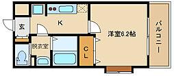 大阪府松原市天美東9丁目の賃貸マンションの間取り