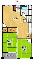 夙川第3コーポラス[2階]の間取り