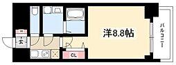 プレサンス錦通THE葵 4階1Kの間取り