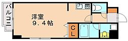 福岡県福岡市中央区古小烏町の賃貸マンションの間取り