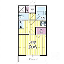 常陽ガーデンハイツ[2階]の間取り