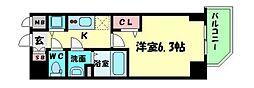 プレサンス江戸堀 12階1Kの間取り
