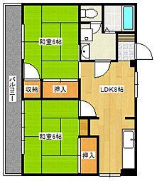 プレアール花畑[2階]の間取り