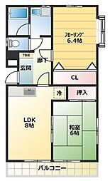 SK南台[3階]の間取り
