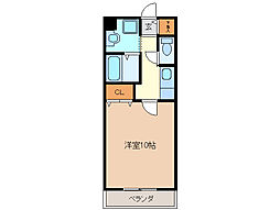 亀山マンションA棟[2階]の間取り