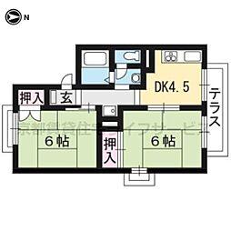 セジュールDEN[A201号室]の間取り