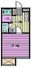 ヴィラ桜木[103号室]の間取り