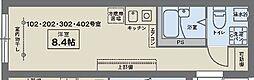 JR中央線 西荻窪駅 徒歩7分の賃貸マンション 1階ワンルームの間取り