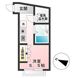 東京都調布市多摩川5丁目の賃貸マンションの間取り