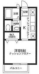 デンハウス妙蓮寺 I[102号室号室]の間取り
