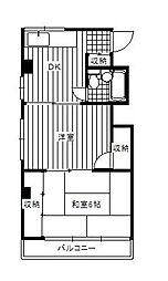 ジュネパレス新松戸第7[4階]の間取り