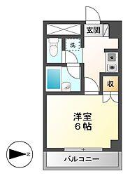 アリーチェ岐阜[6階]の間取り