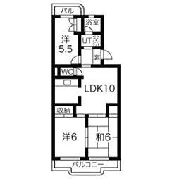 ローレルマンションMURATA[201号室]の間取り