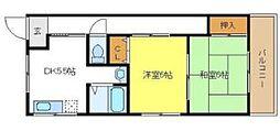 トモエハイツ2[3階]の間取り