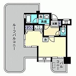 アルファコンフォート福岡西新[807号室]の間取り