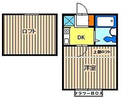 プラザドゥジュール[2階]の間取り