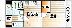 ウィングス片野II[10階]の間取り
