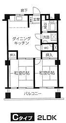 奥平マンション[5階]の間取り