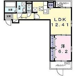 阪急千里線 千里山駅 徒歩13分の賃貸アパート 2階1LDKの間取り