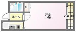 パレ・ロワイヤル参番館[6階]の間取り