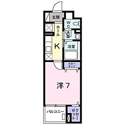 北野町マンション[0106号室]の間取り