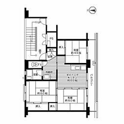 ビレッジハウス松山上野[1階]の間取り