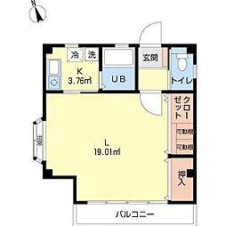 田尻アパート[1F号室]の間取り