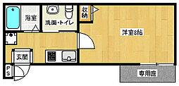 京都府京都市中京区西ノ京馬代町の賃貸マンションの間取り