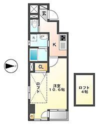 カーサ ルカ(Casa Luca)[9階]の間取り
