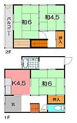 [テラスハウス] 兵庫県尼崎市大庄北5丁目 の賃貸【兵庫県 / 尼崎市】の間取り