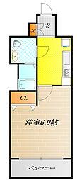 レジュールアッシュ大阪城ノルド[2階]の間取り