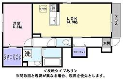 JR東海道・山陽本線 彦根駅 徒歩19分の賃貸アパート 1階1LDKの間取り