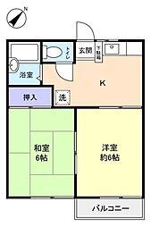 パビリオン三松1番館[2階]の間取り