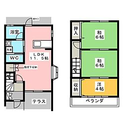[テラスハウス] 群馬県伊勢崎市太田町 の賃貸【/】の間取り