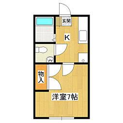 観音台ハイツA棟[1階]の間取り