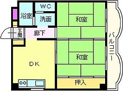 サンモール木下II[2階]の間取り